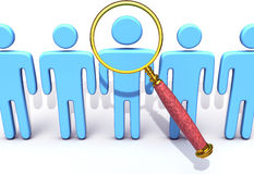 Magnifying Glass HR Search Find Person Stock Image