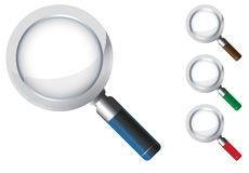 Magnifying glass icon Stock Image