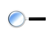 Magnifying glass icon. Isolated on white background vector illustration