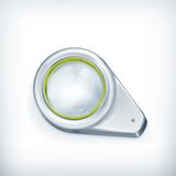 Magnifying glass, icon Royalty Free Stock Photo
