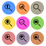 Magnifying glass icon designs Royalty Free Stock Photos