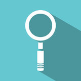Magnifying glass icon on green background Royalty Free Stock Image
