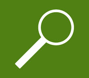 Magnifying glass icon Royalty Free Stock Images