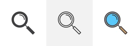 Magnifying glass icon stock illustration