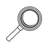 Magnifying glass icon Stock Images