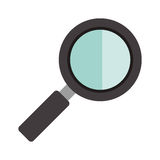 Magnifying glass icon Stock Photos