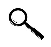 Magnifying glass - icon. vector illustration