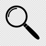 Magnifying glass icon. Vector illustration royalty free illustration