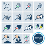 Magnifying glass icons Stock Image
