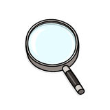 Magnifying glass illustration. Exploration tool Stock Photography