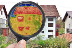 Magnifying Glass Infrared Stock Image