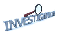 Magnifying glass and investigation Royalty Free Stock Image
