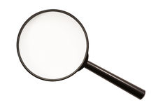 Magnifying glass (isolated) Stock Photo