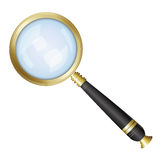 Magnifying glass isolated Stock Photography