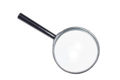 Magnifying glass isolated. On white Stock Photos