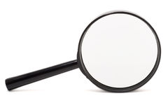 Magnifying glass isolated. On white Royalty Free Stock Photography