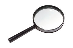 Magnifying glass isolated. On white Royalty Free Stock Image