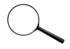Magnifying glass (isolated). Without glass, only m Royalty Free Stock Images