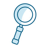 Magnifying Glass Isolated Icon Stock Photos