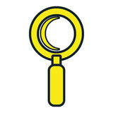 Magnifying glass isolated icon design. Stock Photo