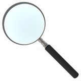 Magnifying glass isolated on white Stock Image