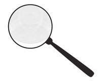 Magnifying glass isolated on white Stock Photography