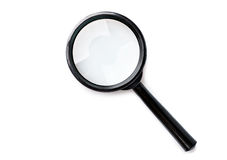 Magnifying glass isolated Royalty Free Stock Images
