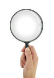 Magnifying glass isolated on white background Stock Images