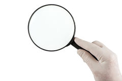 Magnifying glass isolated on white background Stock Image