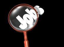 Magnifying glass jobs Royalty Free Stock Photos