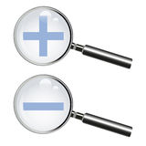 Magnifying glass (lens) Stock Photos