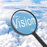 Magnifying glass looking vision Stock Photography