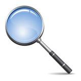 Magnifying glass (Loupe) Stock Image