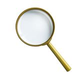 Magnifying glass or loupe isolated with clipping. Simple vintage magnifying glass or loupe isolated with clipping path included Royalty Free Stock Photos