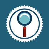 Magnifying glass or lupe Royalty Free Stock Photo