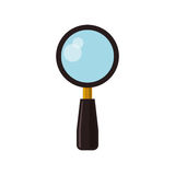 Magnifying glass lupe Stock Photography