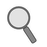 Magnifying glass lupe Royalty Free Stock Image