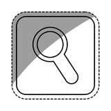 Magnifying glass lupe Stock Photo