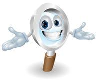 Magnifying glass mascot stock illustration