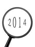 Magnifying glass. With the new year Royalty Free Illustration