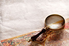 Magnifying glass. Royalty Free Stock Images