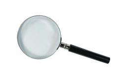 Free Magnifying Glass On White Royalty Free Stock Photography - 18140877