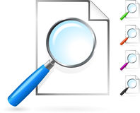 Magnifying glass over blank page Royalty Free Stock Photography