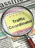 We are Hiring Traffic Coordinator. 3D. Royalty Free Stock Images