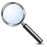 Magnifying glass over white Royalty Free Stock Photo