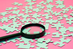 Magnifying Glass Puzzle Royalty Free Stock Images