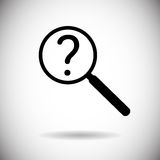 Magnifying Glass With Question Mark Search Icon Stock Photos