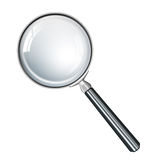 Magnifying glass realistic Royalty Free Stock Photos