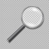 Magnifying glass realistic isolated vector vector illustration