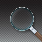 Magnifying glass with reflex Stock Photos